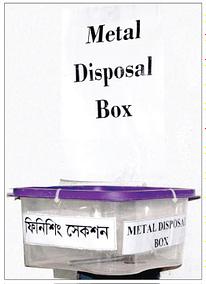 Metal Disposal Box